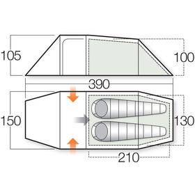 Vango F10 Series Xenon UL 2+ Teltta, citron